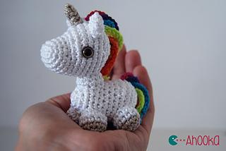 Free Amigurumi Unicorn Pattern : Ravelry tiny unicorn amigurumi pattern by ahooka migurumi