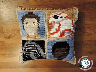 Amigurumi Star Wars Patterns : Ravelry: star wars cushion pattern by ahooka migurumi