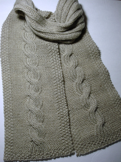 Ravelry Knit Your Bit 2010 Cabled Seaman S Scarf Pattern By