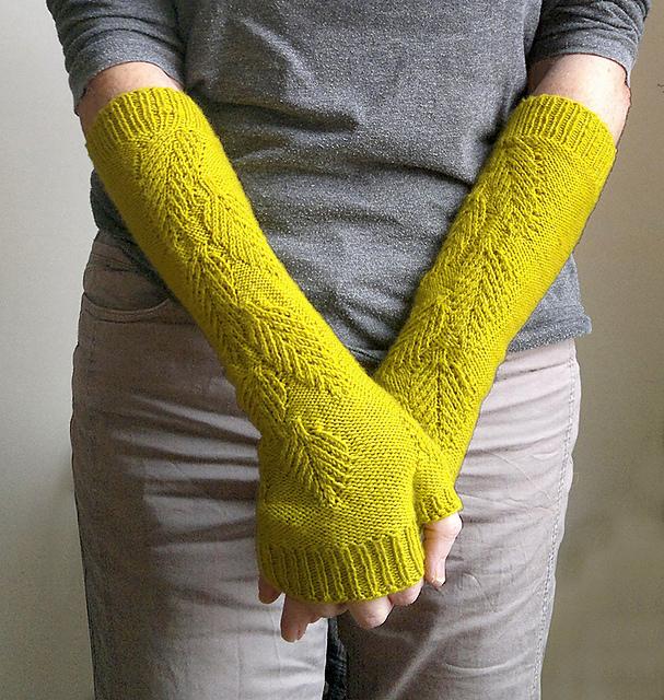 mitaines sans doigts tricotées greenhouse knits #3 par atelier alfa
