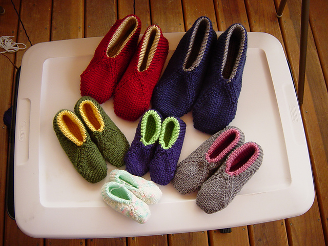 Ravelry: No-Sew Lined Slipper pattern by Diana Sullivan