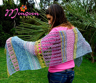 Ravelry  Monsoon Stole pattern by Alia Bland ad9cfa69e