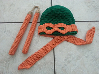 Ravelry Ninja Turtle Hat Mask Pattern By Jaime George