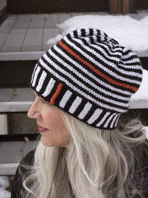 Ravelry  Ups and Downs Stripe Hat pattern by Kate Atherley 926e5f4c2da