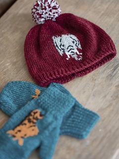 6fbe933ad Fossy Hat & Mittens pattern by Brenda York