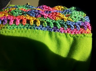 Ravelry Allegra1791s Crochet Edge Fleece Blanket