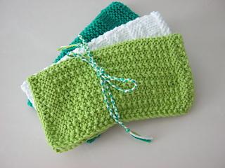 Textured Knitting : Ravelry textured knit dishcloth pattern by kara gunza