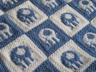 Knitting Pattern Baby Blanket Elephant : Ravelry: Elephant Blocks Baby Blanket pattern by Alexandra ...