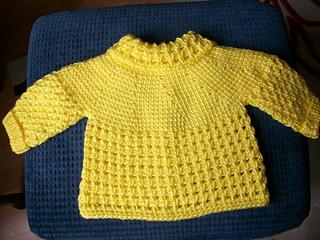 Ravelry 3 Yellow Tunisian Baby Sweater Pattern By Viola Jack