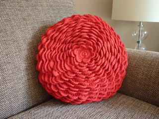 Blooming Flower Cushion pattern by Lucy of Attic24