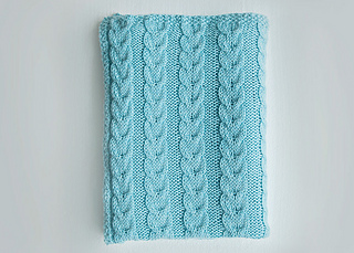f6a2413679 Ravelry  Cable Knit Baby Blanket pattern by Leelee Knits