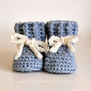 1e53d63ba Ravelry  Lovely Laces Crochet Baby Booties Pattern pattern by Amanda ...