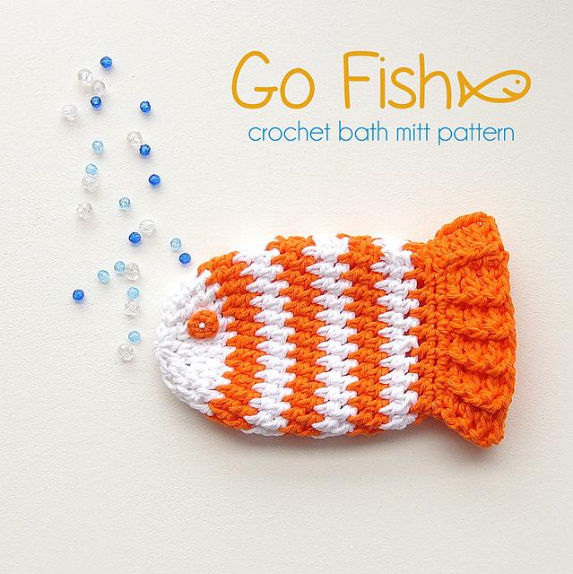 Ravelry Go Fish Bath Mitt Washcloth Crochet Pattern Pattern By