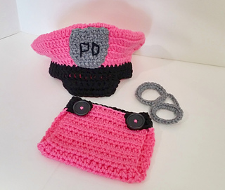Ravelry  Newborn Police Hat and Diaper Cover Set Crochet Pattern pattern by  Aprile Mazey c395ad448a8