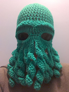 Ravelry  Cthulhu Octopus hat pattern by Amy Hitchcock 754451b5128