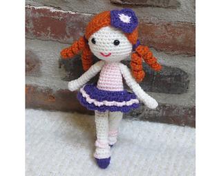 Amigurumi Balerin Fare Yapilisi : Ravelry: Amigurumi Doll Little Ballerina pattern by ...