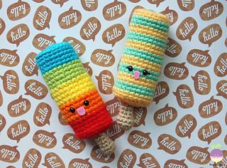 Amigurumi Food : Ravelry popsicle in love amigurumi food pattern by amigurumi food