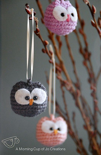 Ravelry Baby Owl Ornaments Pattern By Josephine Wu