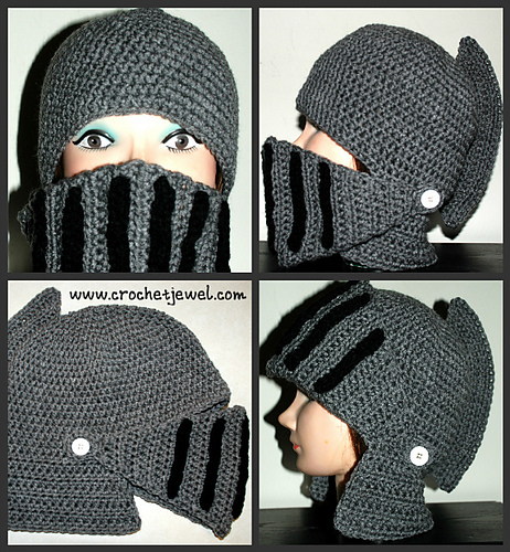 Ravelry: Men\'s Knight Helmet Hat pattern by Amy Lehman