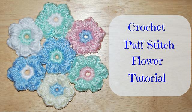 Ravelry Puff Stitch Flower Tutorial Pattern By Amy Lehman