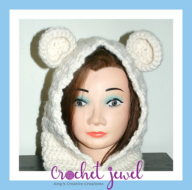 Ravelry Adult Or Child Bear Cowl Pattern By Amy Lehman