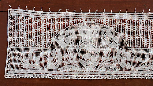 Ravelry Mary Cards Filet Crochet Cafe Curtain Pattern By Laura