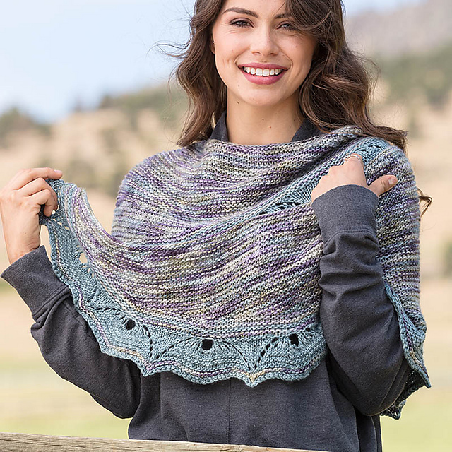 Susanna IC's Trafala Valley Shawl in Love of Knitting, photo by Interweave / George Boe
