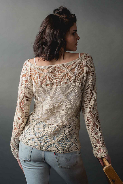Time Honored Sweater Crocheted in Manos del Uruguay