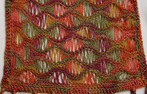 Ravelry Lacy Scarf With Bead Edging Pattern By Linda Lehman