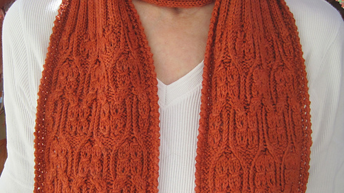 Ravelry Giro Mock Cable Scarf Pattern By Linda Lehman