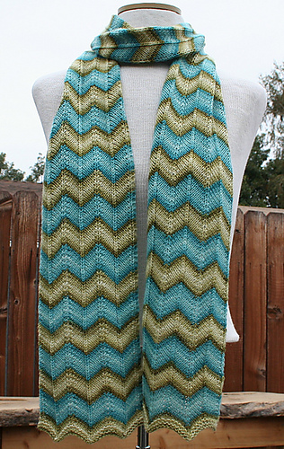 Ravelry Simple Chevron Stripe Scarf Pattern By Karin Martinez