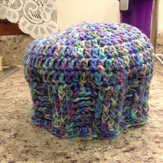 Ravelry Crochet For Cancer S Basketweave Vertical Stripe Chemo Cap