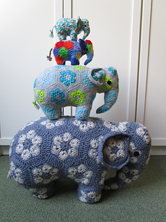 African Flower Crochet Elephant Pattern Free - Flowers Healthy