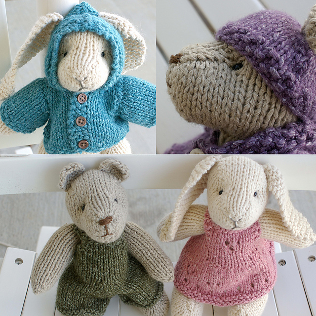 Ravelry: Rabbit and Bear pattern by April Cromwell