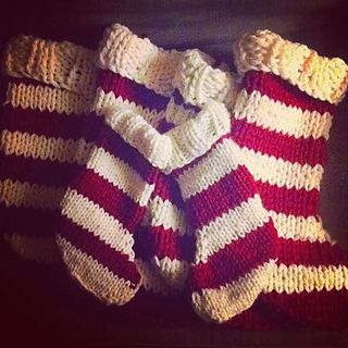 Ravelry Easy Knit Christmas Stocking Pattern By Candace