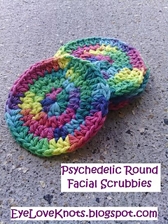 Ravelry: Psychedelic Round Facial Scrubbies pattern by Alexandra