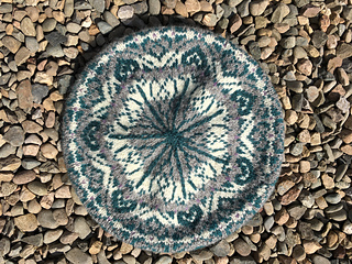 Iona Wool Fair Isle Tam pattern by Linda Moss