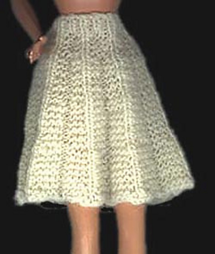 Ravelry Barbie Doll Pleated Skirt Pattern By Carolyn Crompton