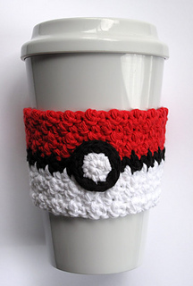 Ravelry Crochet Pokeball Coffee Cup Cozy Pattern By The Enchanted