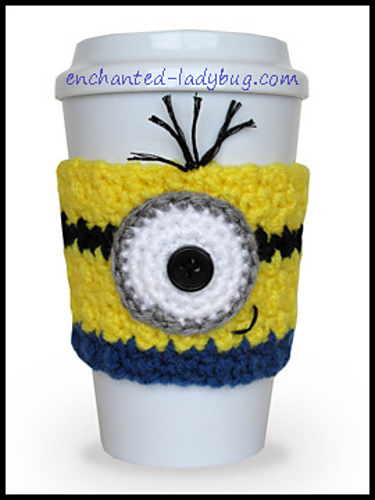 Ravelry Minion Coffee Cup Cozy Pattern By The Enchanted Ladybug