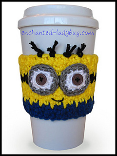 66c1e2f570 Minion Coffee Cup Cozy pattern by The Enchanted Ladybug - Ravelry
