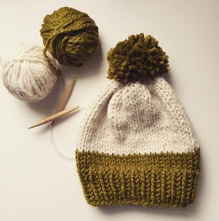 17a95d90e23 Ravelry  Knit Slouchy Pom Pom Hat pattern by Ashley Lillis