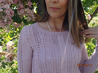 04d683ba06 Ravelry  Petals and Pearls Sweater pattern by Anne B Hanssen