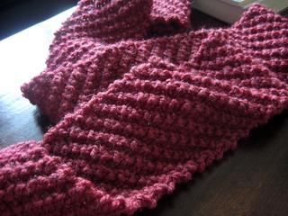 Diagonal Rib Knit Scarf Pattern By Alicia Fleitas Ravelry