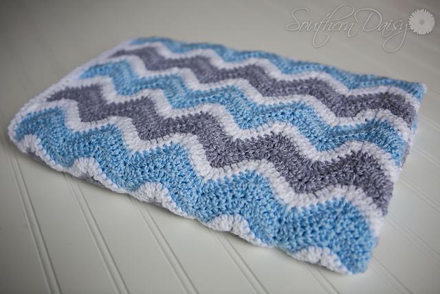 Ravelry Chevron Baby Blanket Pattern By Joanna Mcvey