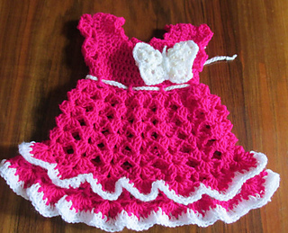 Ravelry Butterfly Baby Dress Pattern By Andree T 252 Nde