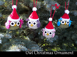 Ravelry Owl Christmas Tree Ornament Pattern By Aunt Janets Designs