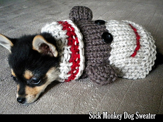 Sock Monkey Dog Sweater Pattern By Aunt Janets Designs