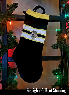 Firefighter Christmas Stocking.Firefighters Boot Stocking Pattern By Aunt Janet S Designs