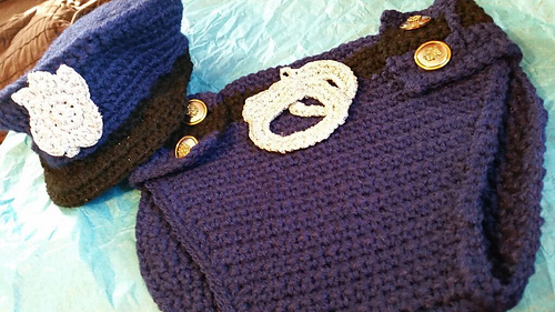 Ravelry Newborn Police Hat And Diaper Cover Set Crochet Pattern